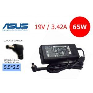 Cargador Compatible Asus 19V 3.42A 65W Conector 5.5*2.5