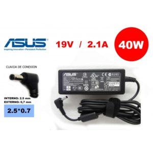 Cargador Compatible Asus 19V 2.1A 40W, 2.5*0.7