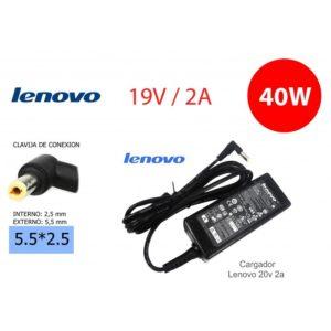Cargador Compatible LENOVO 20V 2A 40W