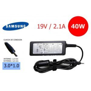 Cargador Compatible SAMSUNG 19V 2.1A Conector: 3.0mm x 1.1mm - Ultrabook