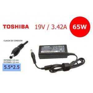 Cargador Compatible TOSHIBA 19V 3.42A 65W Conector: 5.5mm x 2.5mm