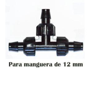 Acople ramificación a manguera de riego de 12 mm 10 unidades