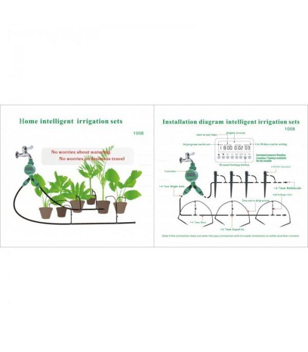 Kit completo Riego Inteligente por goteo - Terrazas o jardines
