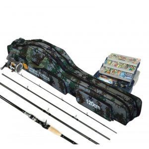 Bolso mochila de 120 cm. para transporte de cañas de pescar y otros fines.