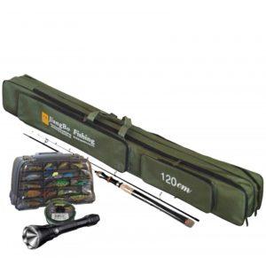 Bolso mochila 125 cm transporte cañas de pesca